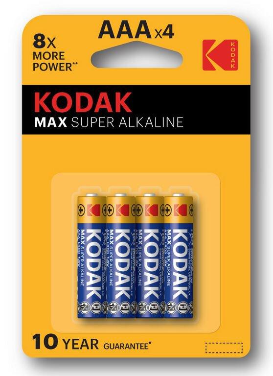 Pila Lr03 X4 Alkalina Kaaa Kodak