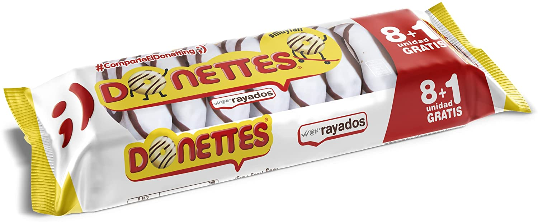 DONETTES RAYADOS 8+1.BIMBO