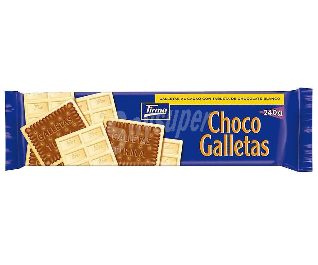CHOCOGALLETAS BLANCA 160GR TIRMA