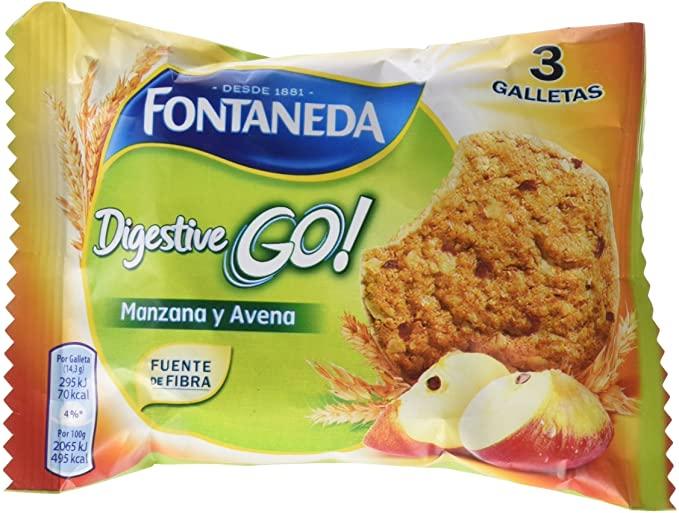 DIGESTIVE GO! MANZ/AVENA 43GR FONTANEDA