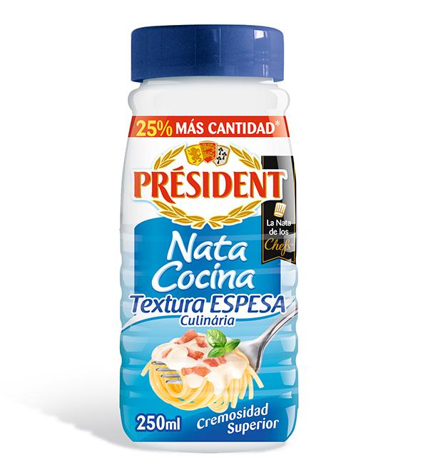 Nata Cocinar President 25cl Btlla.