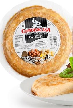 TORTILLA C/CEBOLLA 500gr COMOENCASA