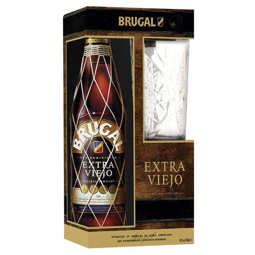 RON BRUGAL EXTRA VIEJO 70CL+ VASO REGALO